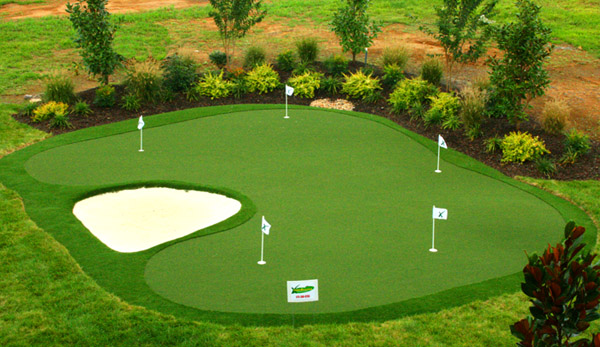 Backyard Sand Bunker : Practice Synthetic Backyard Golf Putting Greens  Artificial Practice