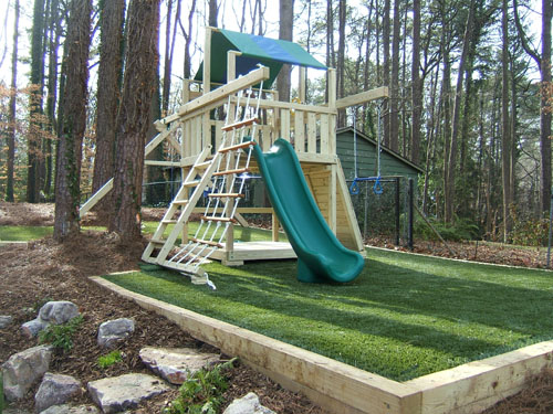 Private residences artificial surfacing home playground artificial