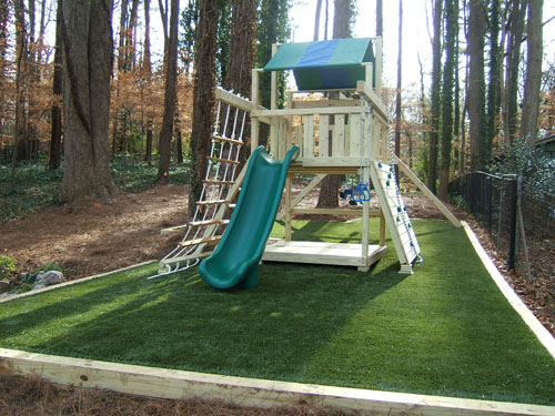 Private residences artificial surfacing home playground - Playground surfaces for home ...