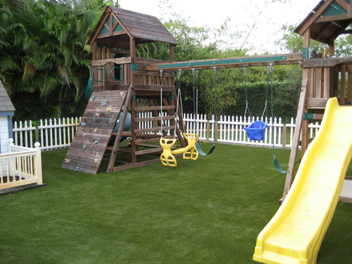 Artificial private residences home playground lawns - Playground surfaces for home ...